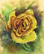 Flower Pastels - Yellow Rose by Jova Mirona