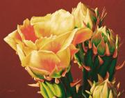 Prickly Rose Posters - Yellow Rose of the Desert Poster by Cheryl Fecht