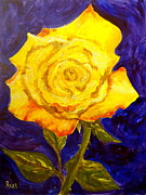 Floral Still Life Originals - Yellow Rose by Pete Maier