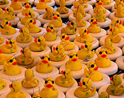 Duckies Prints - Yellow Rubber Duck Party Print by Smilin Eyes  Treasures