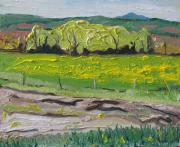 Francois Fournier Paintings - Yellow Spring Movement Ways Mill Quebec Canada  by Francois Fournier