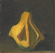 Squash Paintings - Yellow Squash by Elizabeth B Tucker