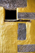 Old House Art - Yellow Stone Wall by Joana Kruse