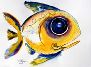 Vincent Posters - Yellow Study Fish Poster by J Vincent Scarpace