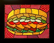 Bread Paintings - Yellow Submarine by Jim Harris