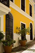 Caribbean Architecture Prints - Yellow Print by Timothy Johnson