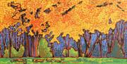 Yellow Tree Print by Nadi Spencer