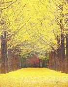 Yellow Trees Print by Kume Bryant