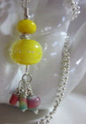 Ball Jewelry - Yellow Tutti Frutti Necklace by Janet  Telander