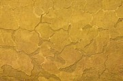 Weathered Prints - Yellow Wall Print by Gerard Hermand