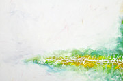 Drips Paintings - Yellowgreen Abstract by Zack Settle
