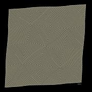Op Art Digital Art Posters - YellowNetFlag Poster by Dieter Bruhns