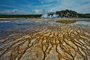 Earthy Water Prints - Yellowstone Blood Vessels Print by Dan Mihai