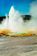 Paint Photograph Posters - Yellowstone Geysers Poster by Robert Bales