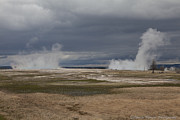 Yellowstone Geysers2 Print by Charles Warren