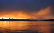 Yellowstone Park Prints - Yellowstone Lake Sunrise II Print by Bruce Gourley