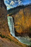 Grand Canyon Of The Yellowstone Posters - Yellowstone Lower Falls HDR Poster by Ken Smith