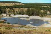 Yellowstone Park Prints - Yellowstone Mineral ponds Print by Michael Peychich