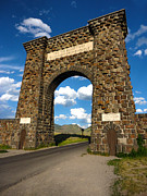 Yellowstone National Park Gate Print by Gregory Dyer
