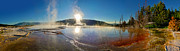 Yellowstone National Park - Minerva Terrace - Panorama Print by Gregory Dyer