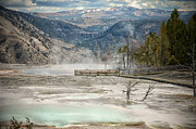 Walkway Digital Art Originals - Yellowstone Park by Mary Timman