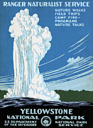 National Park Service Prints - YELLOWSTONE POSTER, c1938 Print by Granger