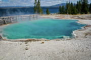 Photo Calendars Framed Prints - Yellowstone water pool Framed Print by Brent Parks