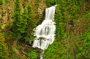 Creeks Prints - Yellowstone Waterfall Print by Jeff  Swan