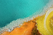 Pool Photography Posters - Yellowstone West Thumb Thermal Pool Close-up Poster by Bill Wight CA