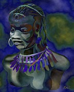 Orisha Paintings - Yemaya  by Liz Loz