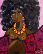 Yemaya Painting Framed Prints - Yemaya Aphrodite Gives Advice. Framed Print by Ifeanyi C Oshun