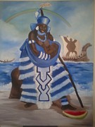 Yemaya Painting Originals - Yemaya - Mother of the Ocean by Sula janet Evans