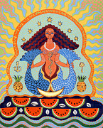 Santeria Goddess Framed Prints - Yemaya Framed Print by Yolanda Fundora