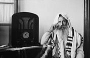 Prayer Shawl Framed Prints - Yemenite Rabbi, In Traditional Robes Framed Print by Everett
