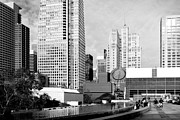 Black And White Photograph Of  Posters - Yerba Buena Garden San Francisco . Black and White Photograph 7D3959 Poster by Wingsdomain Art and Photography