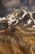 Mountain Prints - Yerupaja Chico 6121m In Cordillera Print by Colin Monteath