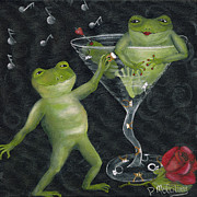 Martini Wall Art Paintings - Yes Toadally Yes by Debbie McCulley
