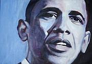 Barack Obama  Painting Prints - Yes We Can Print by Fiona Jack