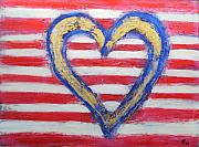 Red White And Blue Mixed Media Originals - Yes We Can by Rochelle Carr