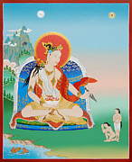 Thangka Paintings - Yeshe Tsogyal by Sergey Noskov