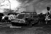 Rusty Car Photos - Yesterday Came Early . Tomorrow Is Almost Over 2 . Black and White by Wingsdomain Art and Photography