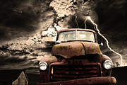Rusty Truck Prints - Yesterday Came Early . Tomorrow Is Almost Over Print by Wingsdomain Art and Photography