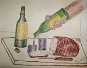 Drawn Pastels Prints - Yesterdays bread Print by Thomas J Norbeck