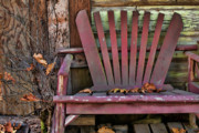 Adirondack Chair Posters - Yesterdays Chair Poster by Bonnie Bruno