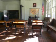 Benches Photo Originals - Yesterdays Classroom Shadows by Warren Thompson