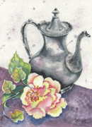 Teapot Painting Originals - Yesterdays Gone by Marsha Elliott