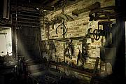 Old Barn Prints - Yesterdays Technology Print by Cecil Fuselier