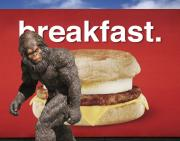 Bigfoot Posters - Yeti Breakfast Poster by Keith Dillon