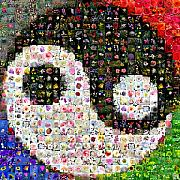 Photomosaic Prints - Yin Yang Print by Gilberto Viciedo