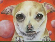 Animal Portraits Pastels Prints - Yo Quiero Print by Michelle Hayden-Marsan